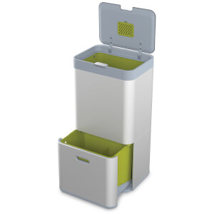 Joseph Joseph Totem Waste and Recycling Unit - Silver 60L