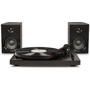 Crosley 2 Speed Bluetooth Portable Vinyl Turntable with 30W Stereo Speakers - Black