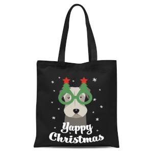 Yappy Christmas Tote Bag - Black