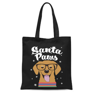 Santa Paws Tote Bag - Black
