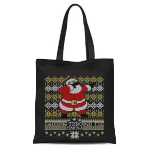 Dabbing Through The Snow Fair Isle Tote Bag - Black