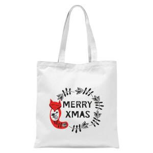 Merry Christmas Tote Bag - White
