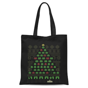 Invaders From Space Tote Bag - Black