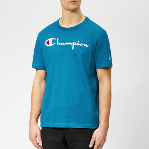 Champion Men's Script T-Shirt - Blue