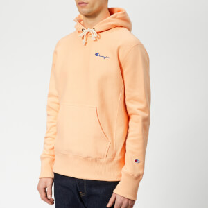 Champion Men's Small Script Overhead Hoodie - Peach