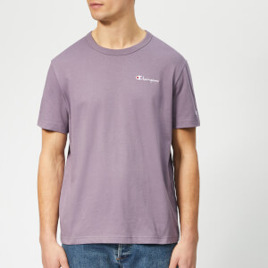 Champion Men's Small Script T-Shirt - Purple