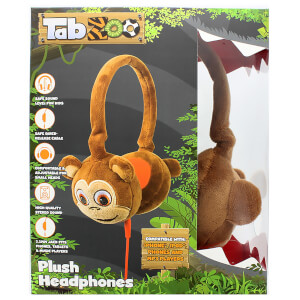 TabZoo Plush Monkey Childrens Wired Headphones