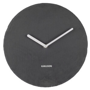 Karlsson Wall Clock Slate Black - Medium