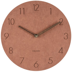 Karlsson Wall Clock Dura Korean Wood - Brown