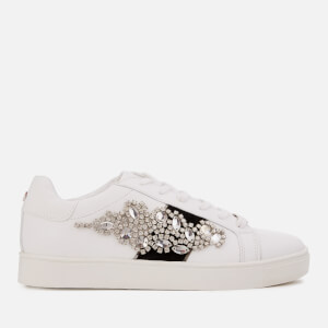 c7b9d07fdcb Carvela Women s Lustre3 Leather Low Top Trainers - White