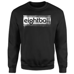 Ei8htball Stencil Logo Sweatshirt - Black