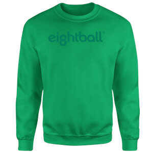 Ei8htball Chest Print Sweatshirt - Kelly Green