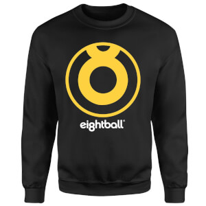 Ei8htball Large Yellow Logo Sweatshirt - Black