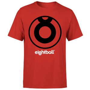 Ei8htball Large Black Logo Men's T-Shirt - Red
