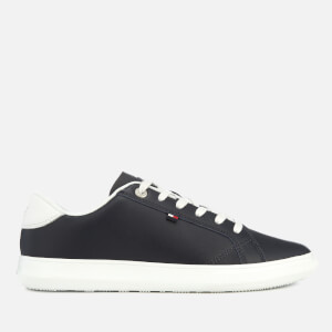 Tommy Hilfiger Men's Essential Leather Cupsole Trainers - Midnight