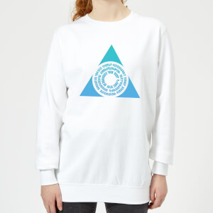 Magic The Gathering Azorius Symbol Women's Sweatshirt - White