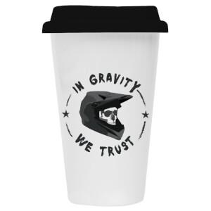 In Gravity We Trust Ceramic Travel Mug