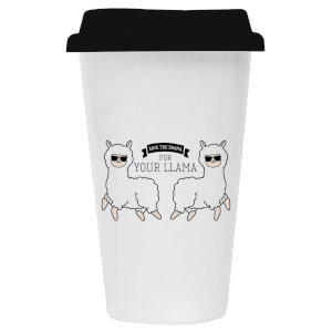 Save Your Drama for Your Llama Ceramic Travel Mug