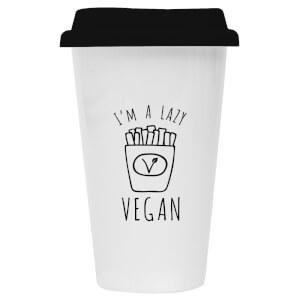 I'm A Lazy Vegan Ceramic Travel Mug