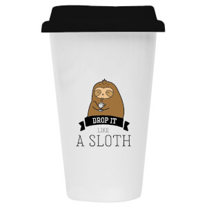 Drop It Like A Sloth Ceramic Travel Mug
