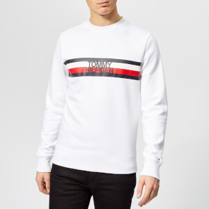 Tommy Hilfiger Men's Tommy Logo Sweatshirt - White