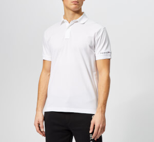 Tommy Hilfiger Men's WCC Tommy Logo Regular Polo Shirt - Bright White