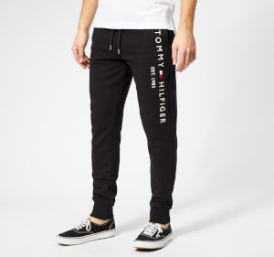 Tommy Hilfiger Men's Basic Branded Sweatpants - Black