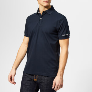 Tommy Hilfiger Men's WCC Tommy Logo Regular Polo Shirt - Sky Captain