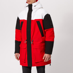 Tommy Hilfiger Men's Colourblock Parka - Goji Berry