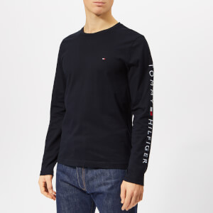 Tommy Hilfiger Men's Tommy Logo Long Sleeve T-Shirt - Sky Captain
