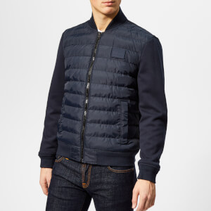 Tommy Hilfiger Men's Inside Stripe Rib Quilted Bomber Jacket - Sky Captain