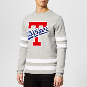 Tommy Hilfiger Men's T-Script Logo Sweatshirt - Grey