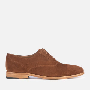 PS by Paul Smith Men's Tompkins Suede Toe Cap Oxford Shoes - Hazelnut
