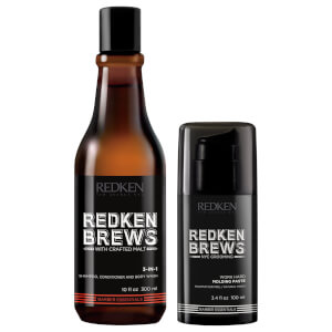 Redken Brews Men's Shampoo and Molding Paste Duo