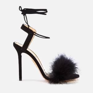 Charlotte Olympia Women's Salsa Feather Sandals - Black