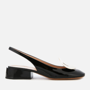 Mulberry Women's Block Heeled Sling Back Shoes - Black