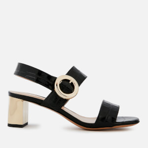 Mulberry Women's Block Heeled Sandals - Black/Gold