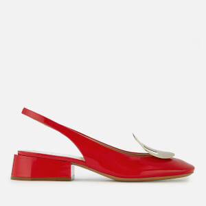 Mulberry Women's Block Heeled Sling Back Shoes - Red