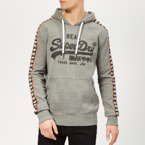 Superdry Men's Vintage Logo Repeat Panel Hoody - Podium Mid Grey Grit