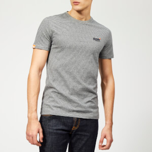 Superdry Men's Orange Label Vintage Embossed T-Shirt - Navy/Grey Melange