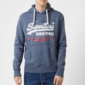 Superdry Men's Premium Goods Tri Infill Hoody - Pacific Blue Heather