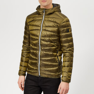 Superdry Men's Clarendon Down Hooded Jacket - Bright Khaki