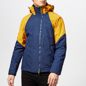 Superdry Men's Arctic Intron Hooded Windcheater - Golden Ochre/Dark Blue