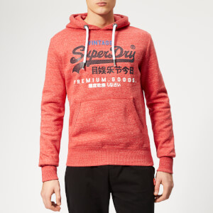 Superdry Men's Premium Goods Tri Infill Hoody - Cali Red Heather