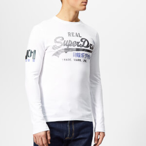 Superdry Men's Vintage Logo 1st Duo Long Sleeve T-Shirt - Optic