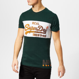 Superdry Men's Vintage Logo 1st Panel T-Shirt - Highland Green/Ice Marl