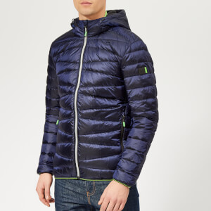 Superdry Men's Clarendon Down Hooded Jacket - True Navy