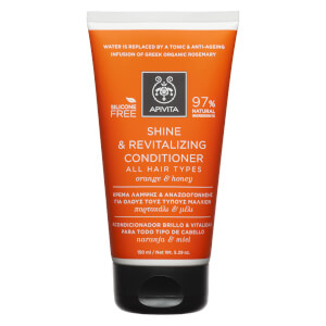 APIVITA Holistic Hair Care Shine & Revitalising Conditioner for All Hair Types - Orange & Honey 150 ml