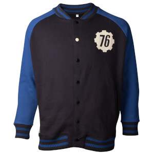 Fallout Men's Vault 76 Varsity Jacket - Navy