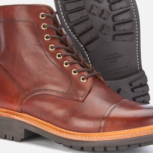 Grenson Men's Joseph Hand Painted Leather Lace Up Boots - Tan: Image 4
